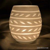 Big Designer Glass Candle Holder