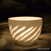 T Light Candle Holder With Antique Finish