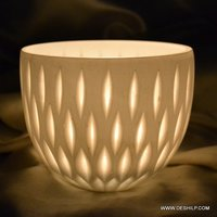 Katori Shape Glass Candle Holder
