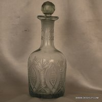 Clear Cut Glass Perfume Bottle