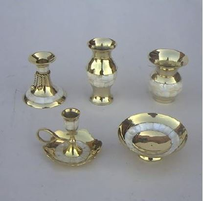 Golden Brass Gift Set Mother of Pearl