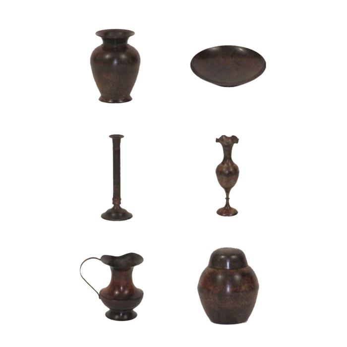 Solid Brass Assorted Decor Antique brown finish