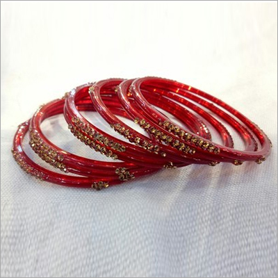 Red Glass Bangle