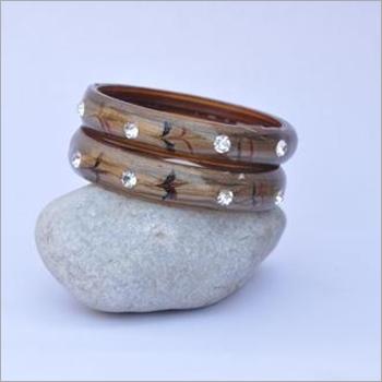 Stone Glass Bangle