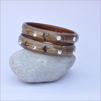 Stone Glass Bangle