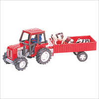 Plastic Farm Tractor Toy