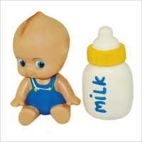Plastic Baby Doll with Milk Bottle