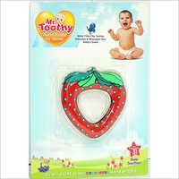 PVC Water Filled Strawberry Shape Teether