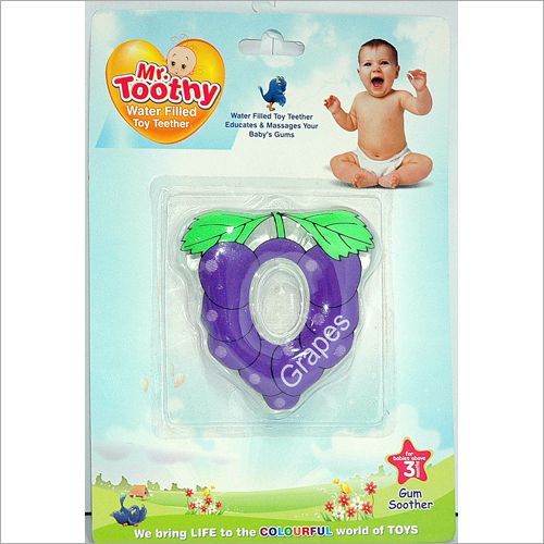 PVC Water Filled Grapes Shape Teether