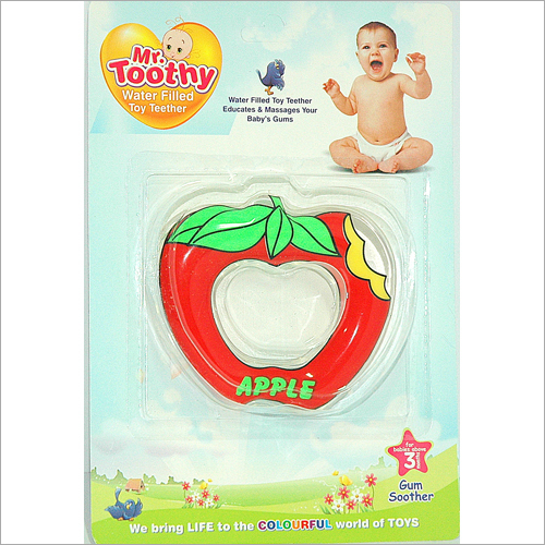 PVC Water Filled Apple Shape Teether