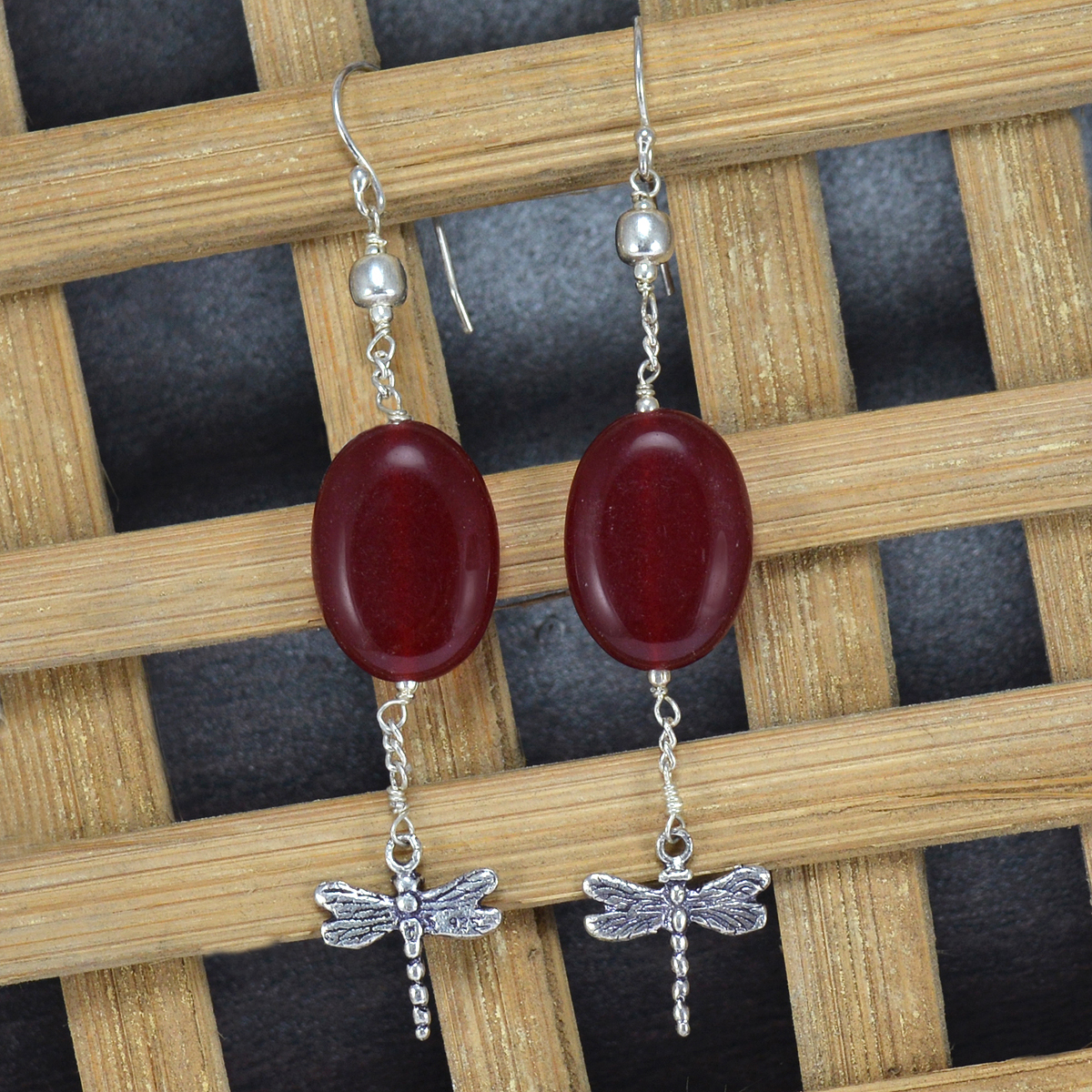 Handmade Red Onyx, Handmade Jewelry Manufacturer 925 Sterling Silver, Earring With Jaipur Rajasthan India