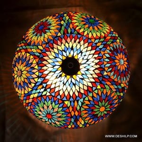 Multi Mosaic Ceiling Light
