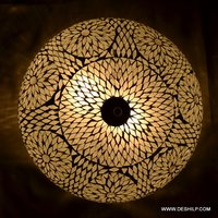 White Mosaic Wall Ceiling Light