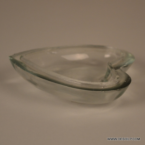 Heart Shape Glass Clear Bowl