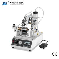 Thread coating machine with syringe dispensing for per-coating adhesive glue dispenser TH-960L1