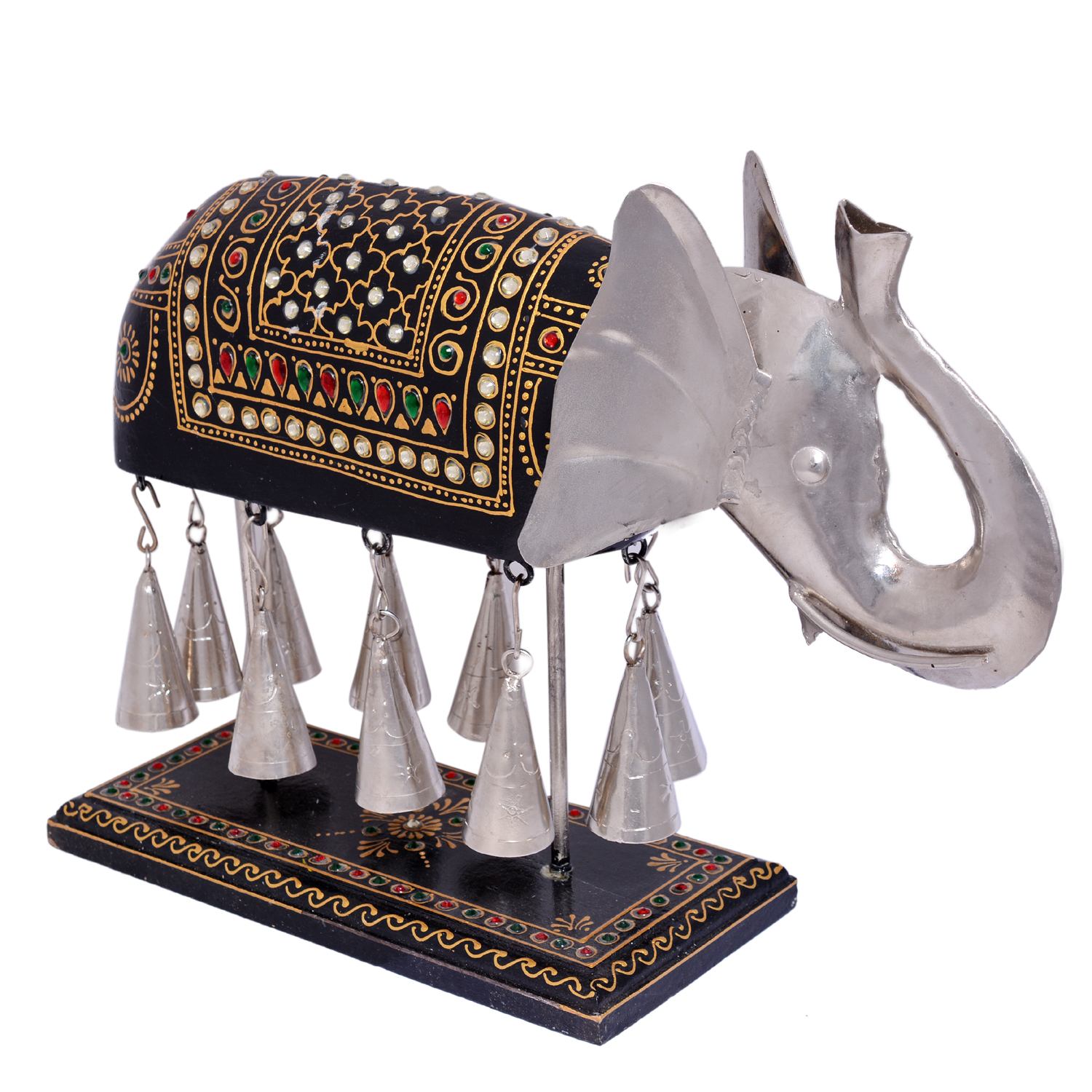 Home Decorative Iron Painted Elephant Bell