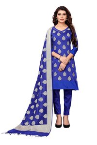 Heavy Party Wear Banarasi Suit, Dress Material