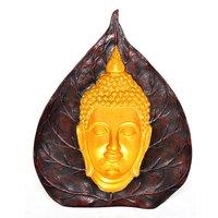 Home Decorative Resin Leaf Design Buddha Statue