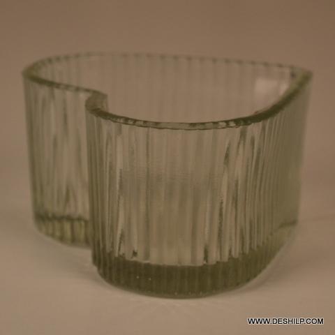 Heart Shape Cut Glass Jar
