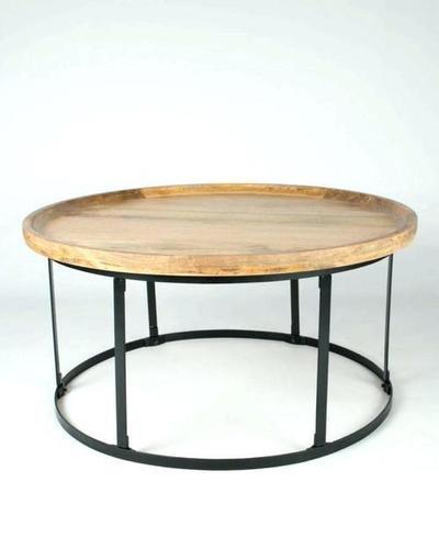 Modern Round Iron Coffee Table