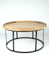Modern Round Iron Coffee Table