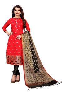 Traditional Wear Banarasi Suit Dress Material