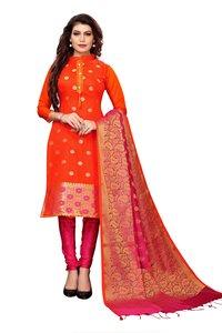 Traditional Wear Banarasi Suit Dress Material