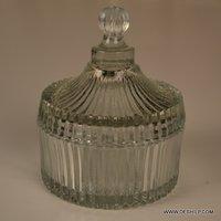 Inkpot Shape Glass Cutting Jar