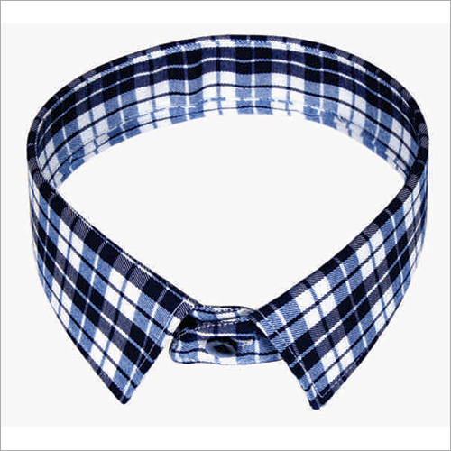 Casual Check Shirt Collar Microdot Fusible Interlining
