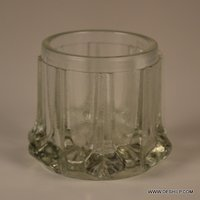 Clear Antique Glass T Light Candle Holder