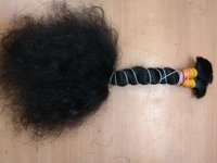 Black  Malaysian Mink Curly Human Hair Extension