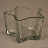 Star Design Glass Candle Votive