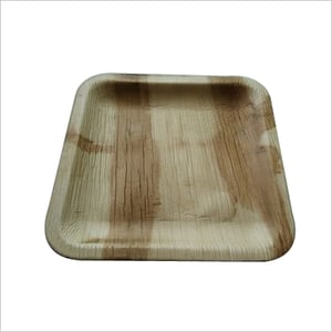 Areca Leaf Plate / Square / 8 inch Shallow