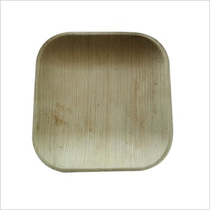 Areca Leaf Plate / Square / 6 inch / Shallow