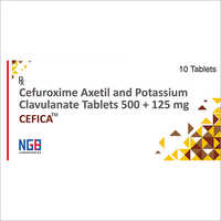 500 + 125 MG Cefuroxime Axetil And Potassium Clavulanate Tablets