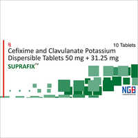 50 + 31.25 MG Cefixime And Clavulanate Potassium Dispersible Tablets