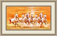 Right Direction Seven Horses On Canvas