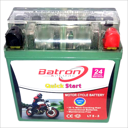 5 LB Gel Maintenance Free Motorcycle Battery