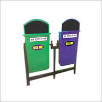 Blue Green Outdoor Dustbin