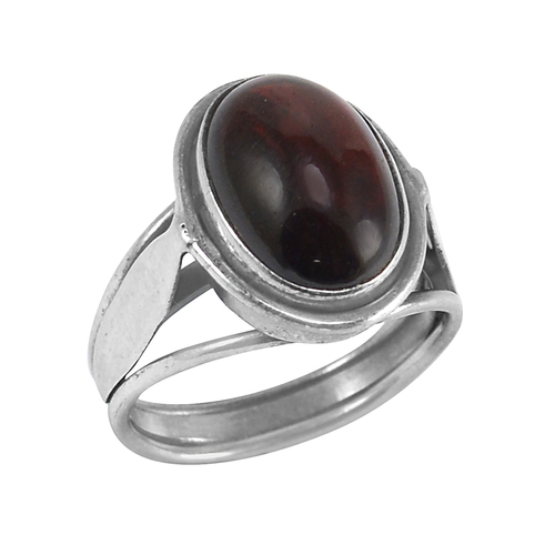 14x10mm Oval Garnet- Handmade Jewelry Manufacturer Sterling Silver- Bazel Setting- Cathedral shank Ring Jaipur Rajasthan India