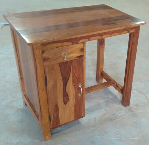 Hardwood Study Table With Drawer & Door