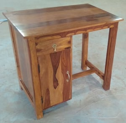 Solid Wood Study Desk With Drawer & Door
