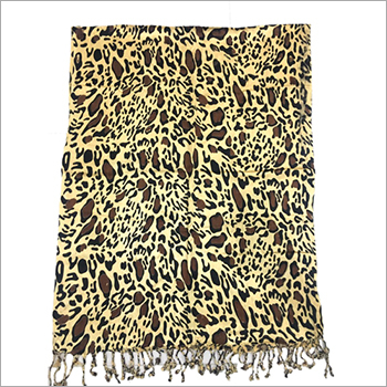 Ladies Satin Tiger Print Scarf