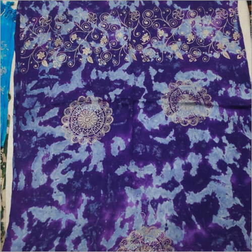 Ladies Satin Discharge Print Scarf