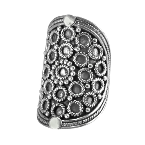 Handmade Jewelry Manufacturer 925 Sterling Silver, Jaipur Rajasthan India Straight shank Long Ring