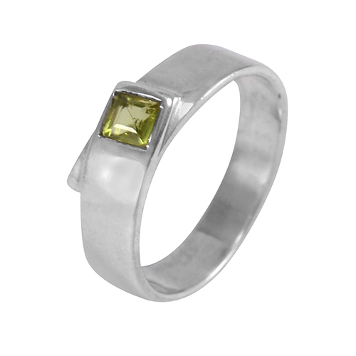 925 Sterling Silver, Handmade Jewelry Manufacturer Green Peridot, 925 Silver, Interlocked shank Ring Jaipur Rajasthan India