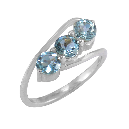 Blue Topaz Handmade Sterling Silver Ring Size 8.25 Jewelry Jaipur Rajasthan India Supplier Manufacturer