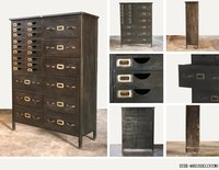 18 DRAWER CHEST WITH DIFFERENT SIZE