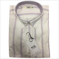 Mens Linen Casual Striped Shirt