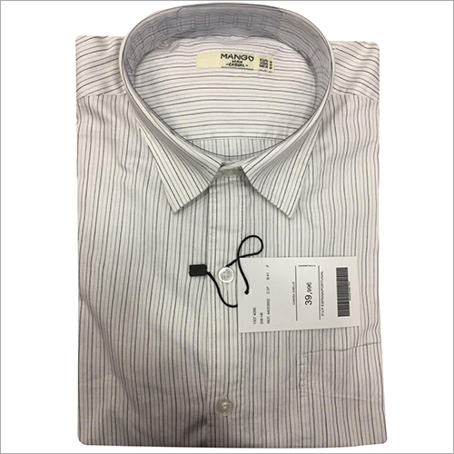 Mens Linen Striped Shirt